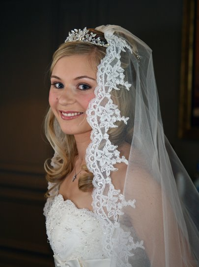 Beautiful scalloped edge veil