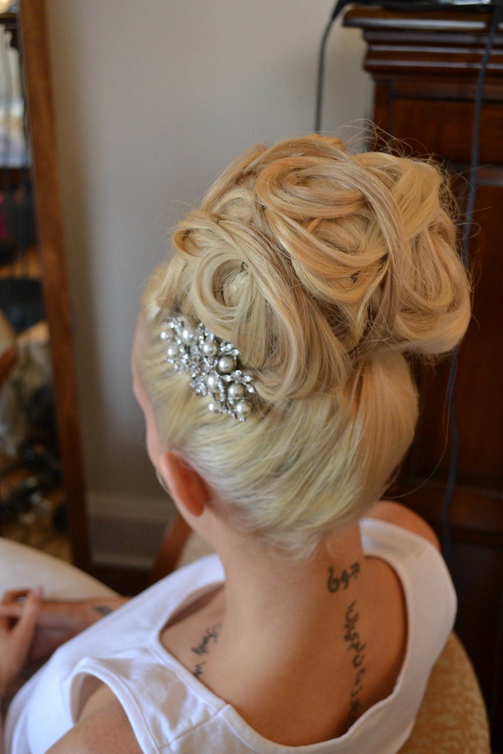 High Hair - Gorgeous Wedding Hair At Bottleys Mansion