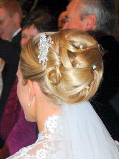 Brides hair at Claridges, London