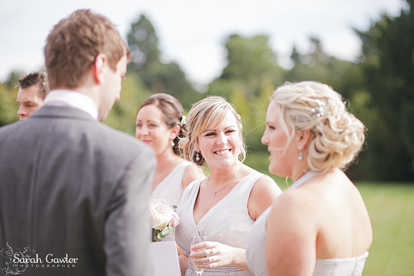 Unstructured up do for bridesmaids