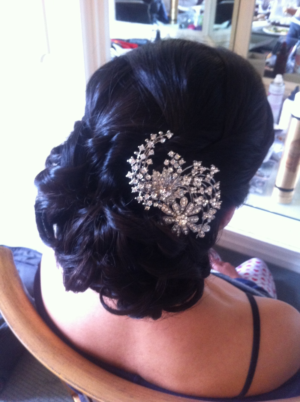 Vintage inspired chic wedding hair