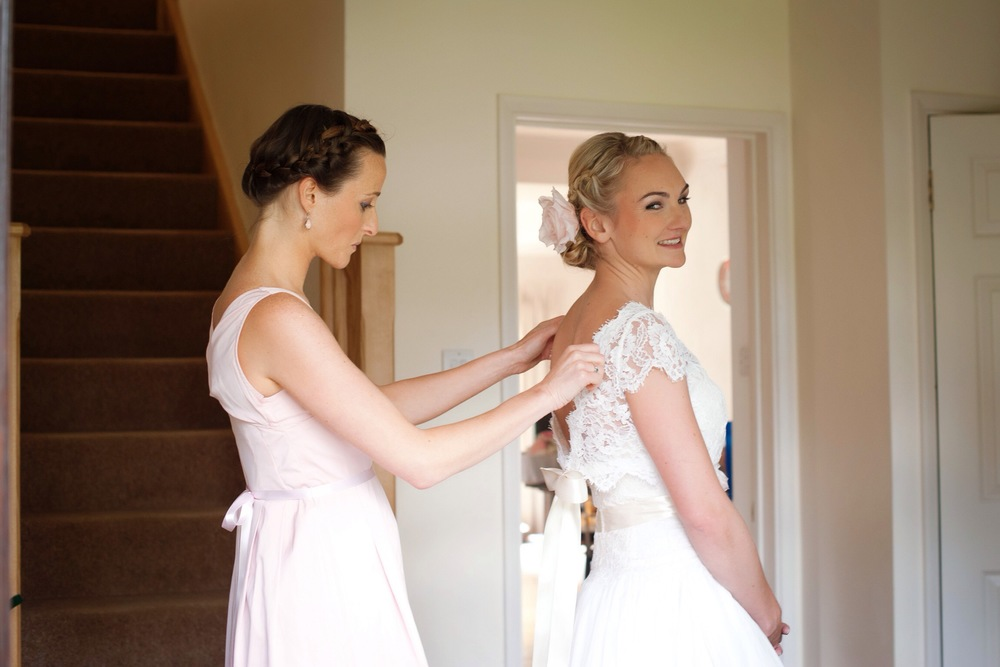 Bridal Hair Up With Plaits