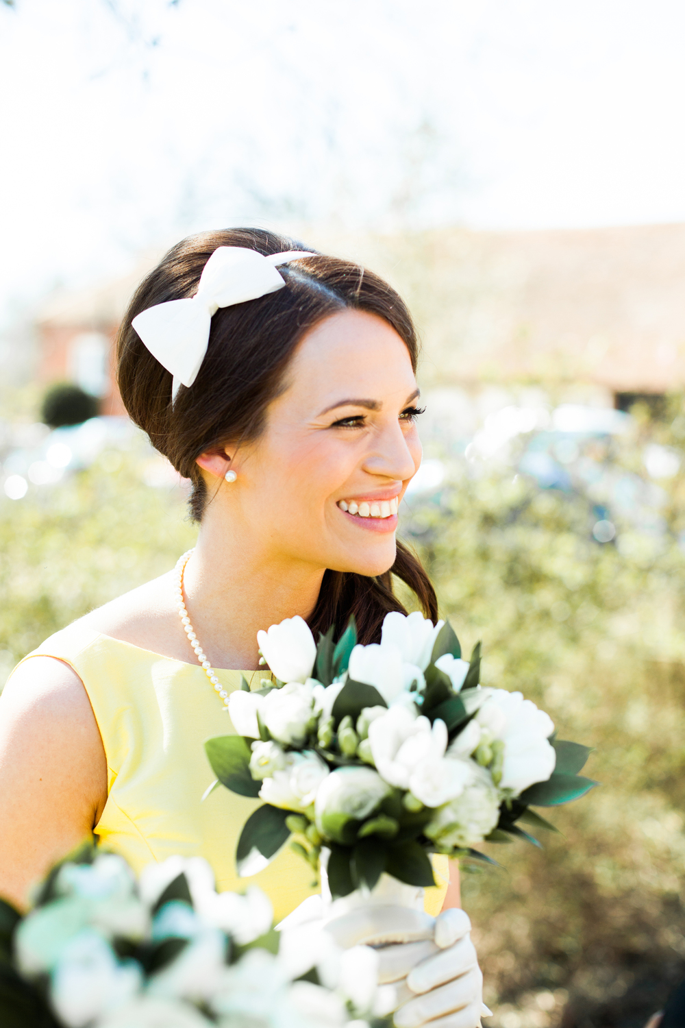 Bridesmaid Hair With Side Bow