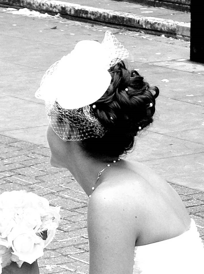 Bridal headpeice & birdcage veil