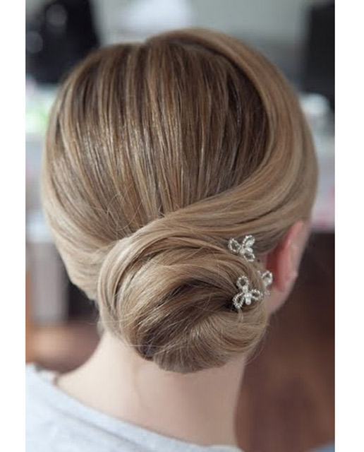 Vintage hair pins in a classic up do