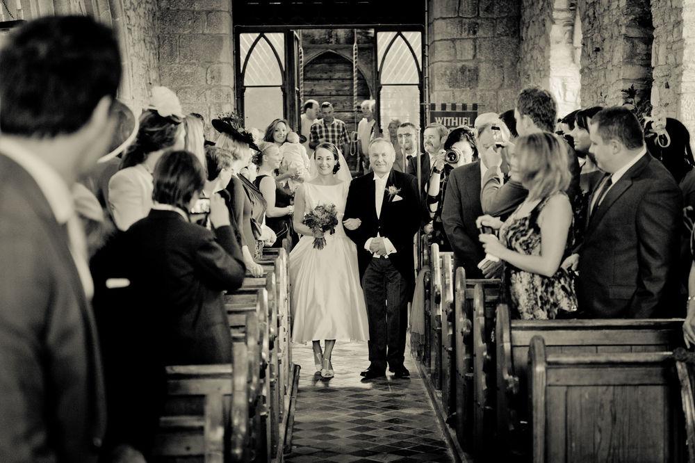 Retro Church Wedding In Cornwall