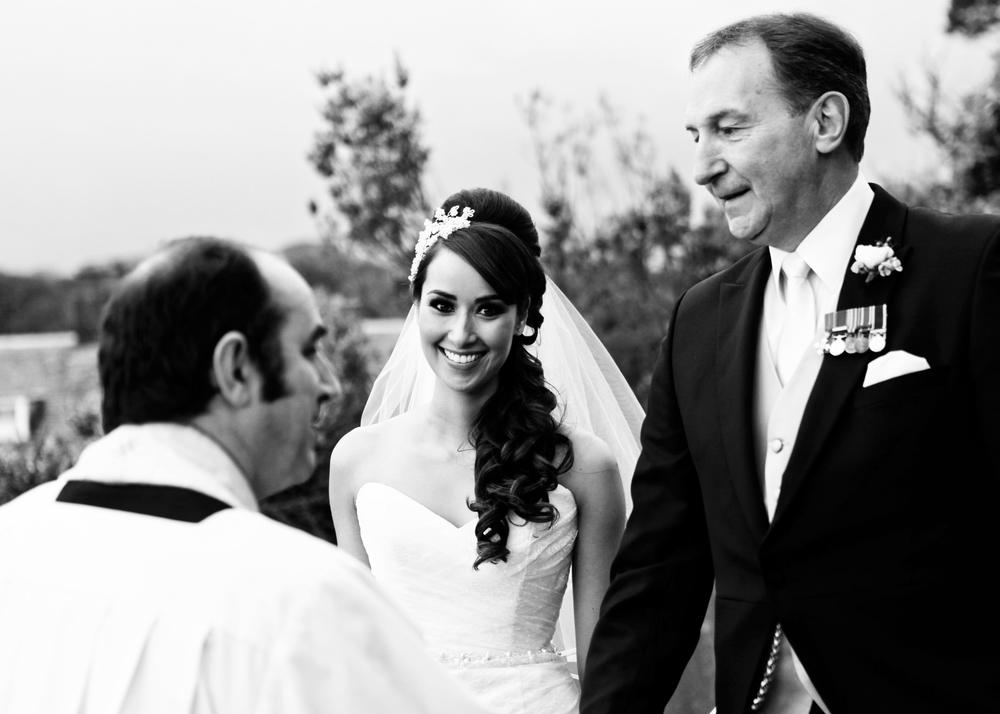 Cornish outdoor wedding ceremony
