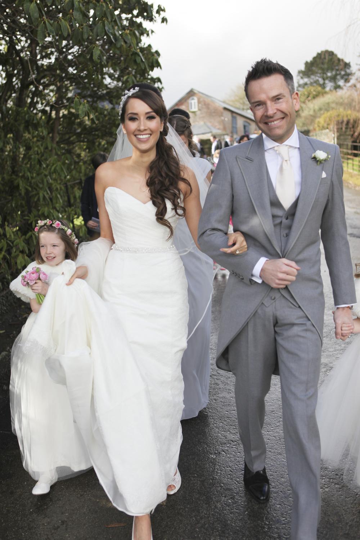 Informal Cornish wedding