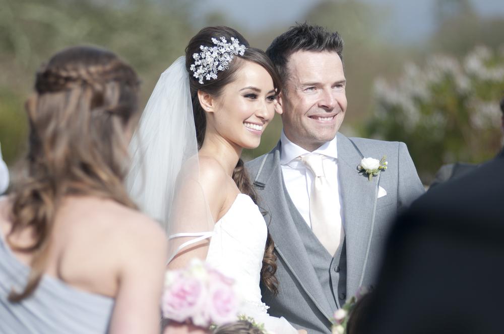 Happy, smiley bride!