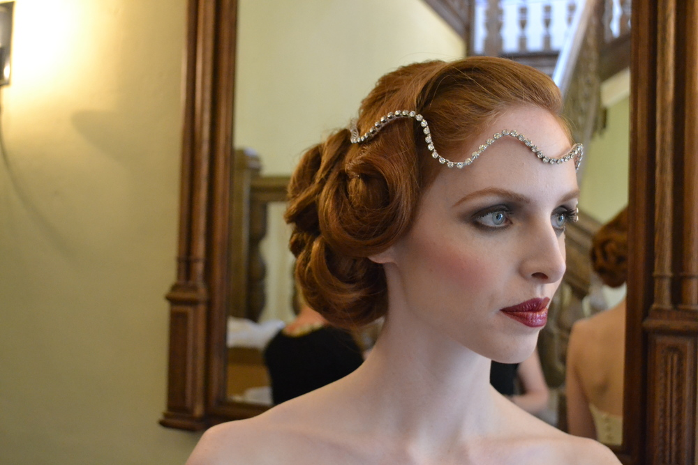 Gatsby Inspired hair at Leeds Castle