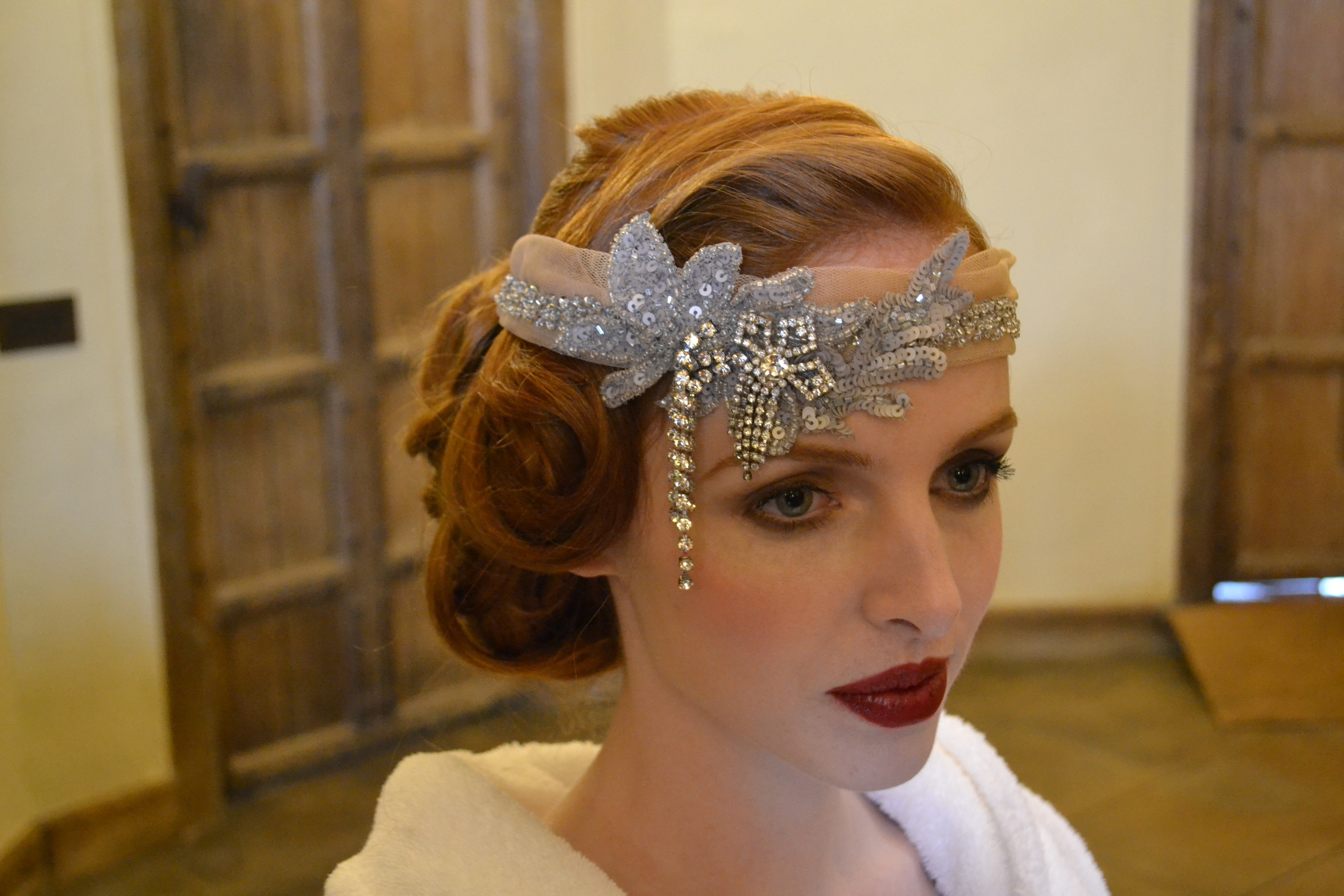 Hair by by Jo Irving for a Gatsby Inspired photoshoot at Leeds castle