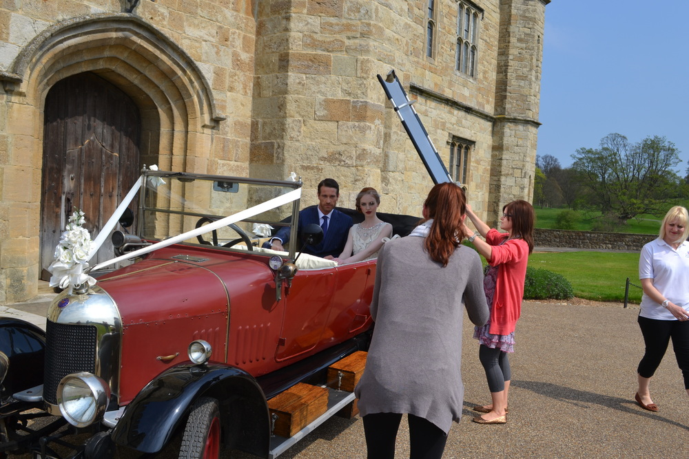 Lucy Davenport working her photographic magic at the Gatsby shoot at Leeds castle