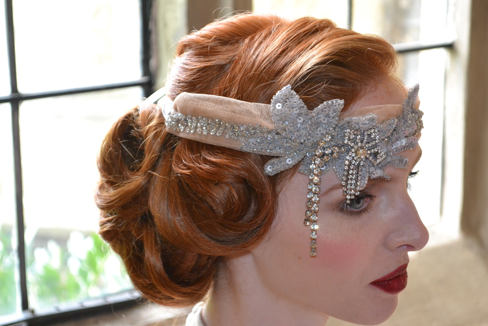 Vinatge styled bridal hair by Jo Irving