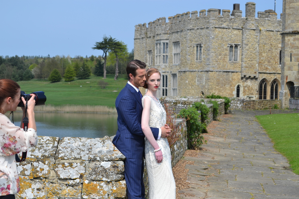 Great Gatbsy inspired photo shoot at Leeds Castle