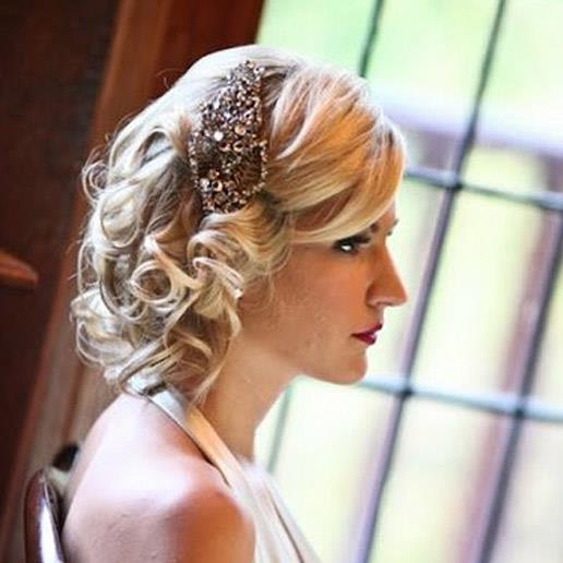 Wedding hair inspiration for short hair