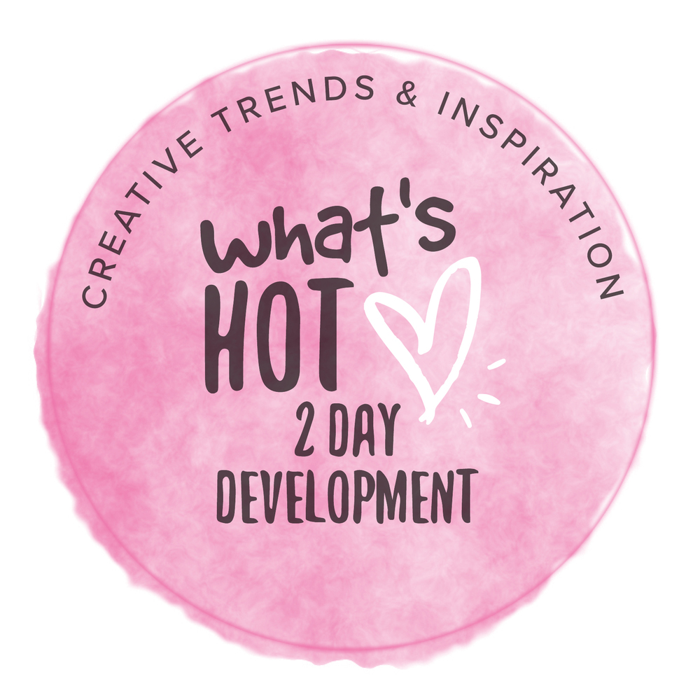 2 DAY - CREATIVE DEVELOPMENT GROUP SESSION (£450) Trends, practical skills & inspiration LEARN MORE →
