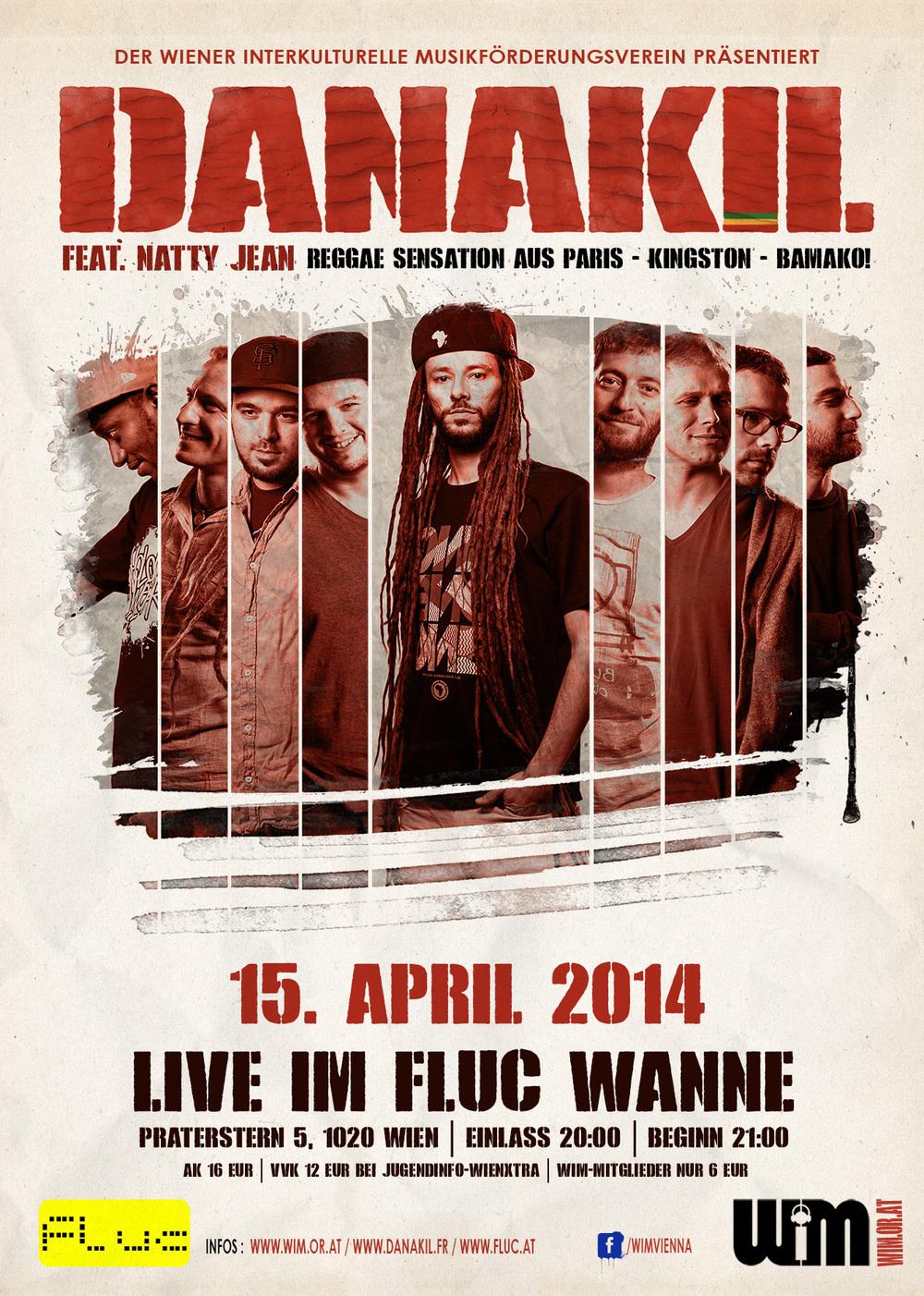 DANAKIL feat NATTY JEAN | FLUC WANNE | VIENNA | 15.04.2014