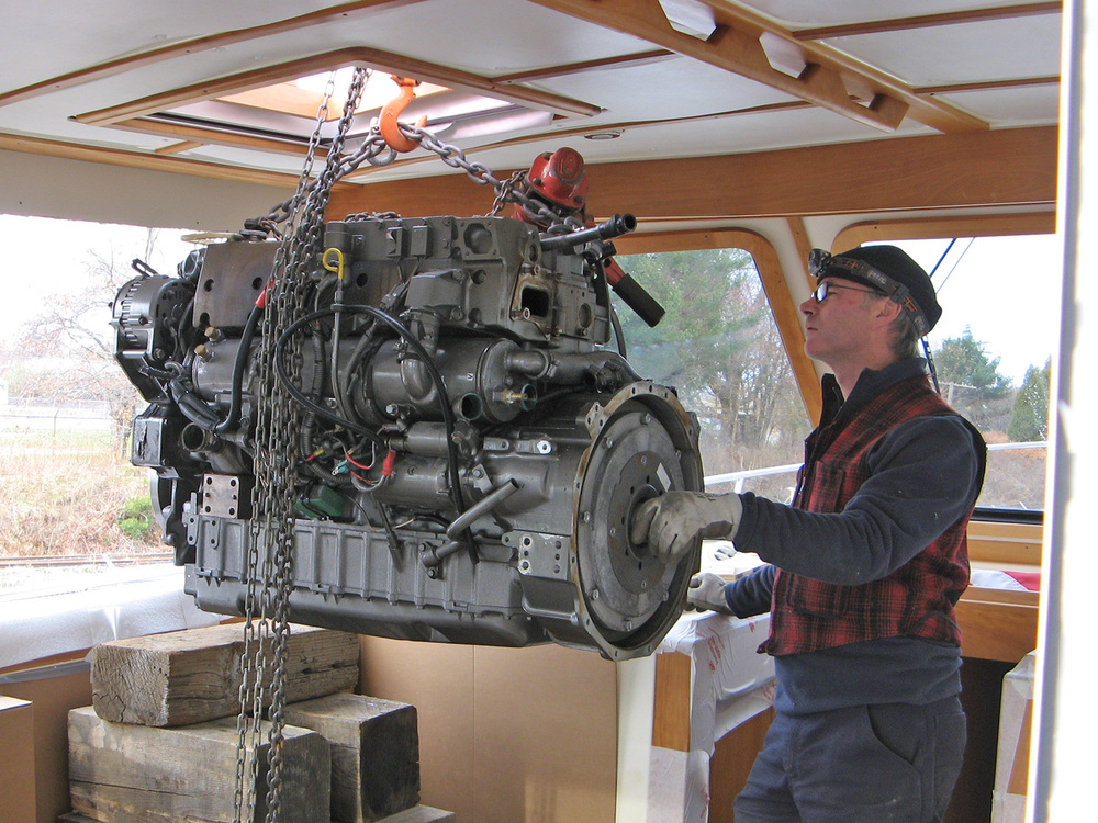 Removing an engine for repower
