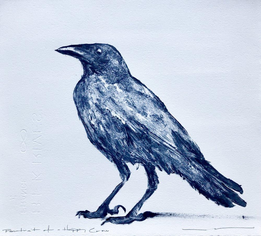 Portrait of a Happy Crow