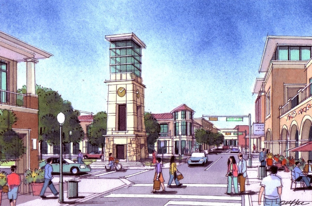 Retail Street and Clock Tower