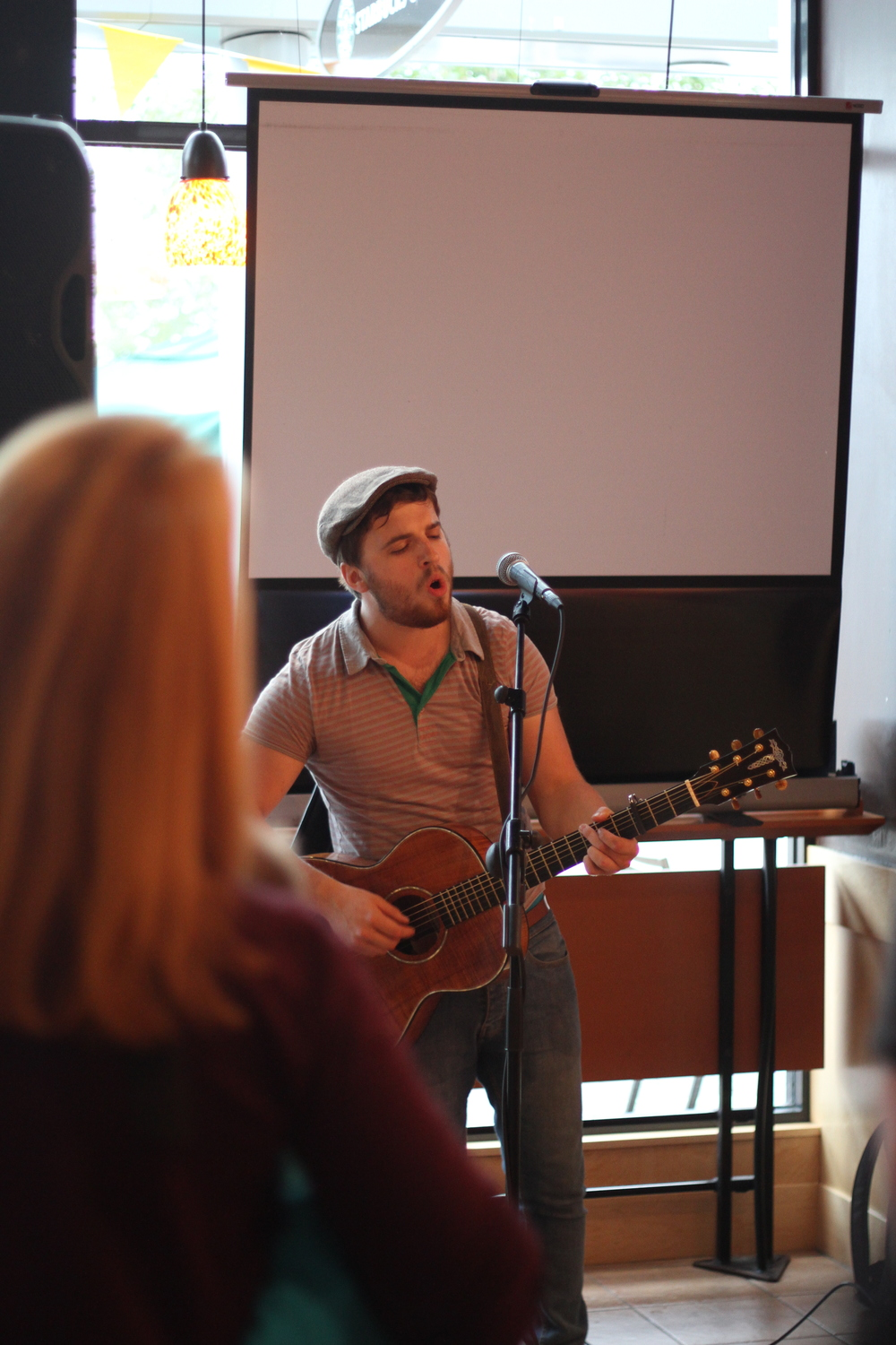 Nathan Jess led worship at Cafe Church!!