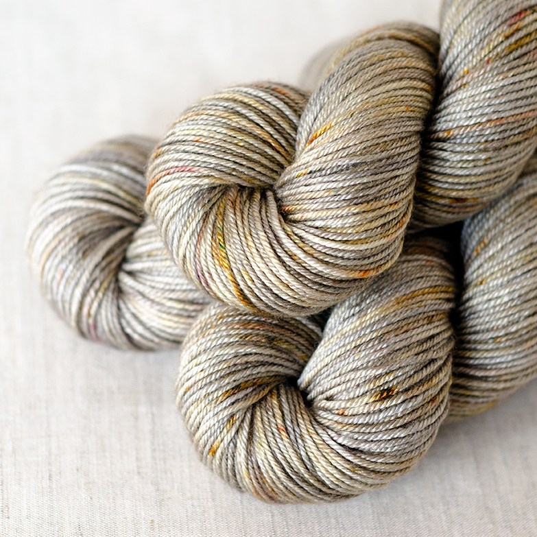BFL/Silk DK - $30 55/45 Superwash British Bluefaced Leicester Wool / Silk DK Weight, 4 plies 230 yards / 210 meters Suggested needles: US 5-7 / 3.75-4.5mm Hand wash, dry flat BFL/Silk DK is soft and smooth with body and a bit of a shine from the silk content.