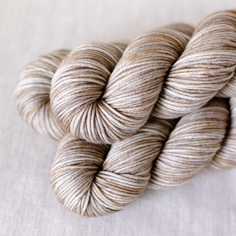 SW Merino DK - $22 100% Superwash Merino Wool DK Weight, 4 plies 230 yards / 210 meters Suggested needles: US 5-7 / 3.75-4.5mm Hand wash or machine wash gentle cycle, dry flat SW Merino DK has lots of bounce and elasticity. It's a soft yarn with a round profile. It's a bit heavier than DK 250.