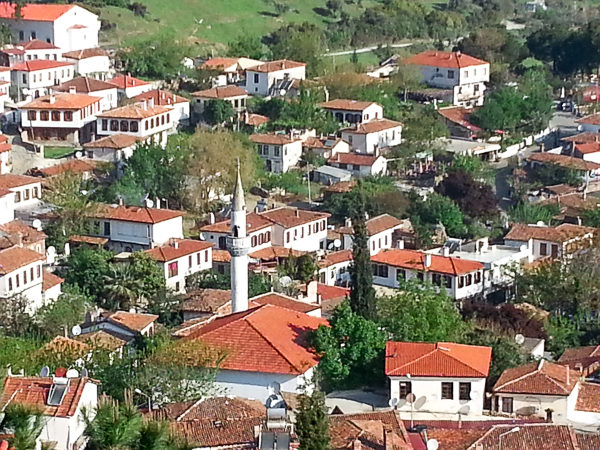 View of the village from the top of one of the hills, upon which my hotel sat. Lots of unexpected hiking.