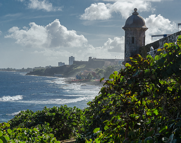 Castillo San Felipe del Morro Tower on the Atlantic