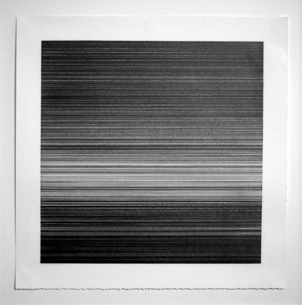 Poetics (Deep) . graphite on paper, 50.8 x 50.8 cm, 2012 . Kate Beck