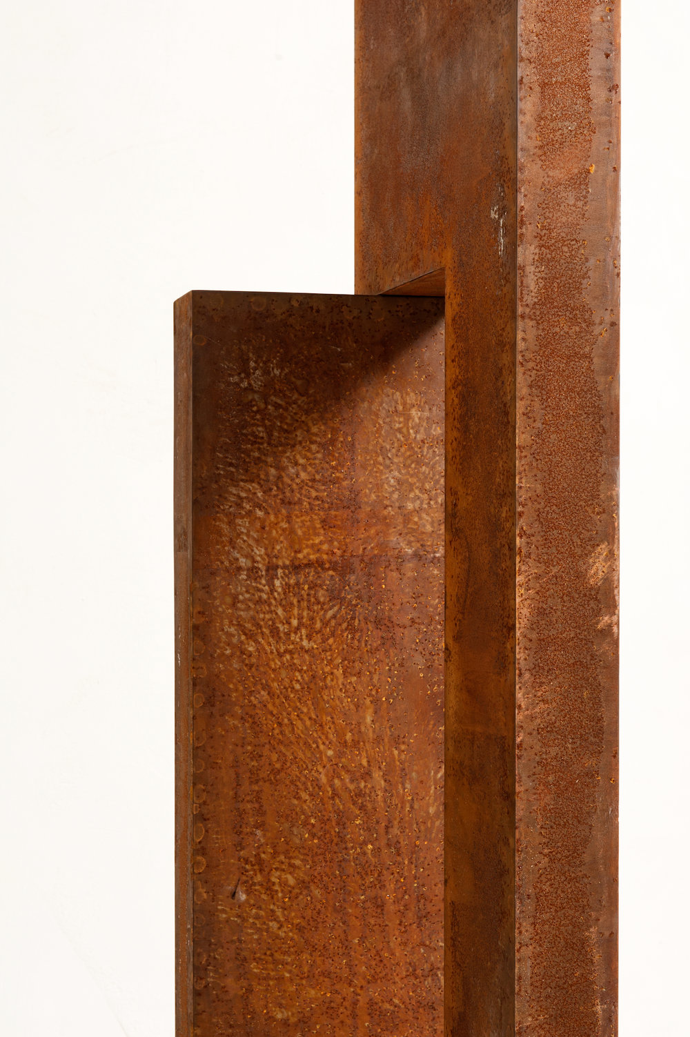 VOID X . 208 x 43 x 9cm (aggregate dimensions) . corten steel . 2015 . photo: Iemke Ruige