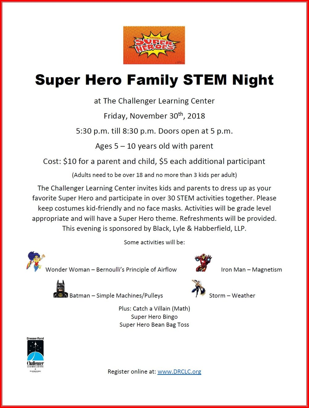 Super Hero Family STEM Night flyer.jpg