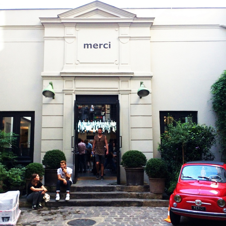 The amazing Merci concept shop in the Marias