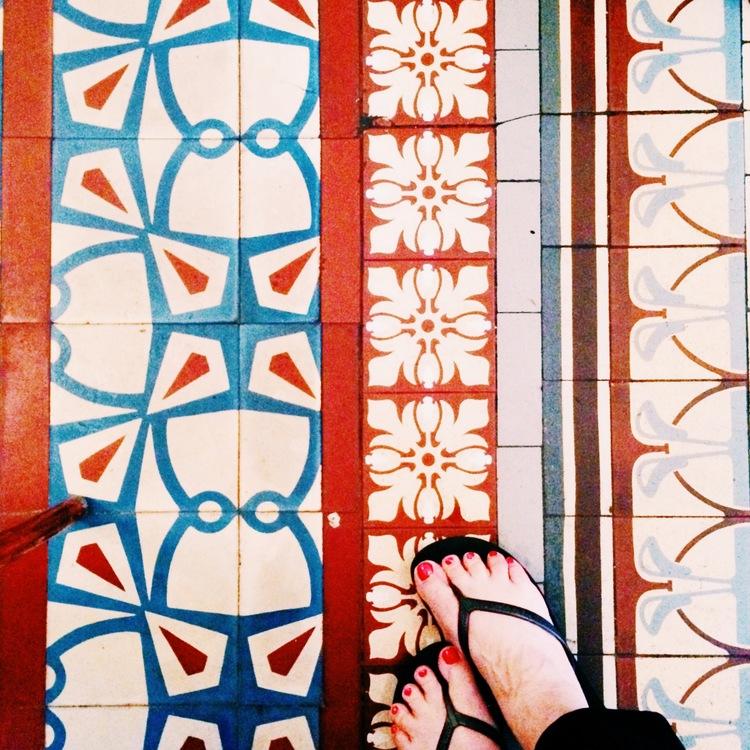 gorgeous tiled floors everywhere!