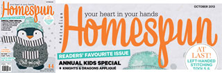 October 2013 issue Homespun (Australia)