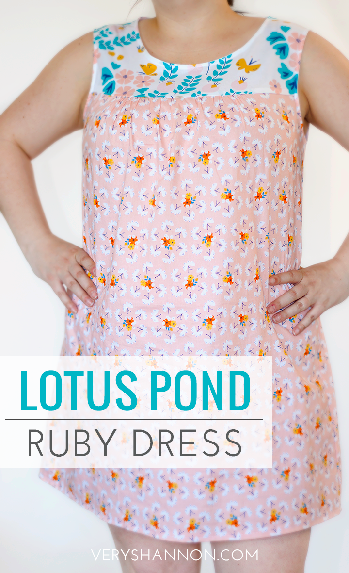Lotus Pond Fabric Tour - Ruby Dress by Made By Rae, sewn by VeryShannon.com