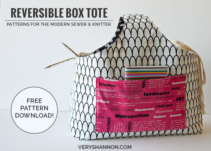 SEWING FREE REVERSIBLE BOX TOTE PATTERN!!!   VERY SHANNON