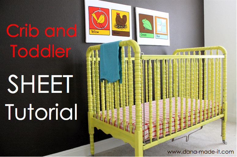 Toddler Bed Fitted Sheet Tutorial