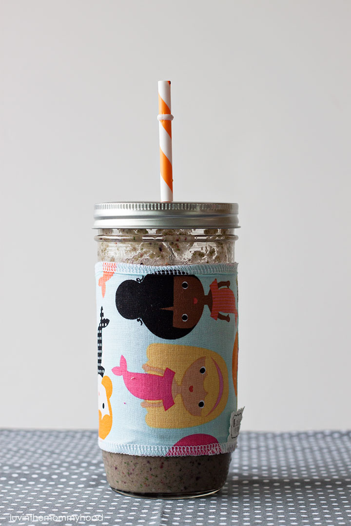 mason jar sleeve from hustlemamhandmade on luvinthemommyhood.com