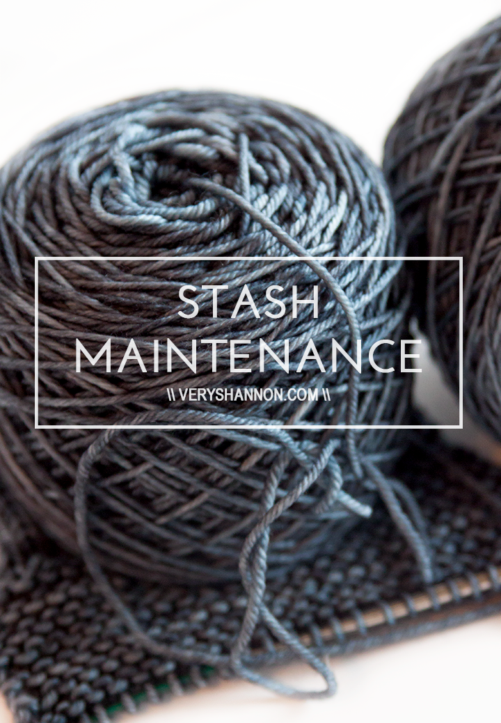 Stash Maintenance \\ Very Shannon