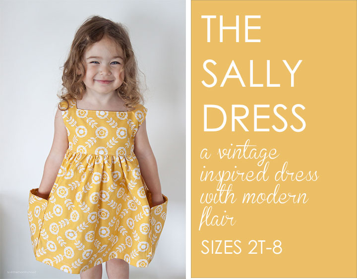 Sally Dress Sewing Pattern by www.veryshannon.com