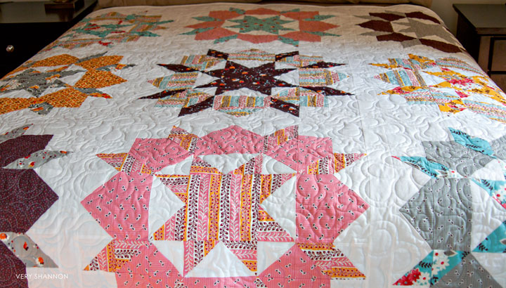 Swoon Quilt Sewn by VeryShannon.com #quilting #swoon