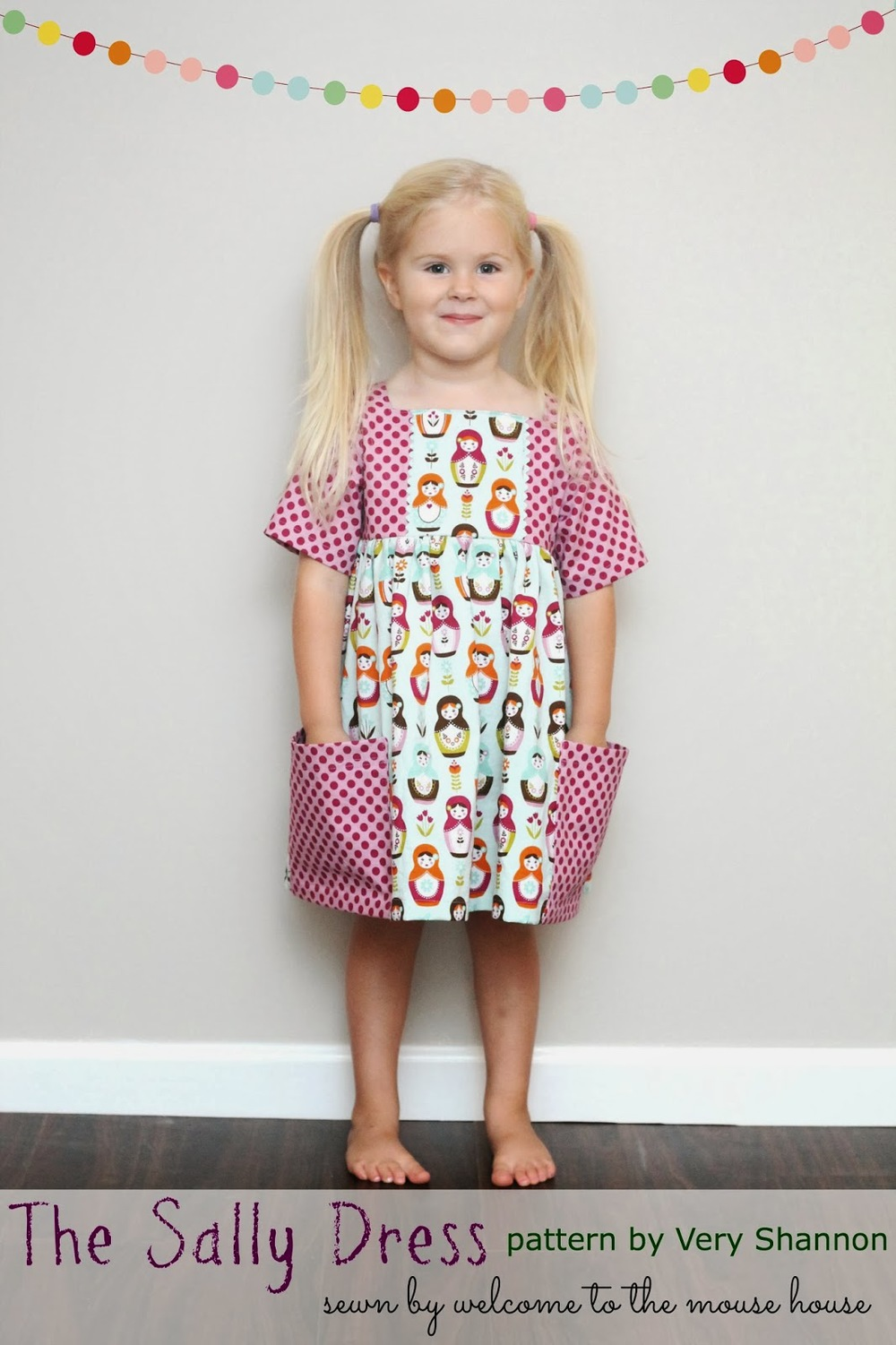 Sally Dress Pattern by Very Shannon sewn by Welcome to the Mouse House