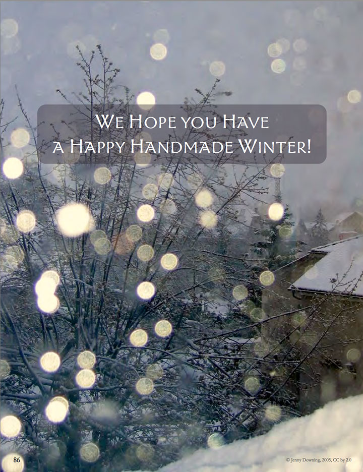 Handmade Winter eBook || A Creative Mamas Collaboration
