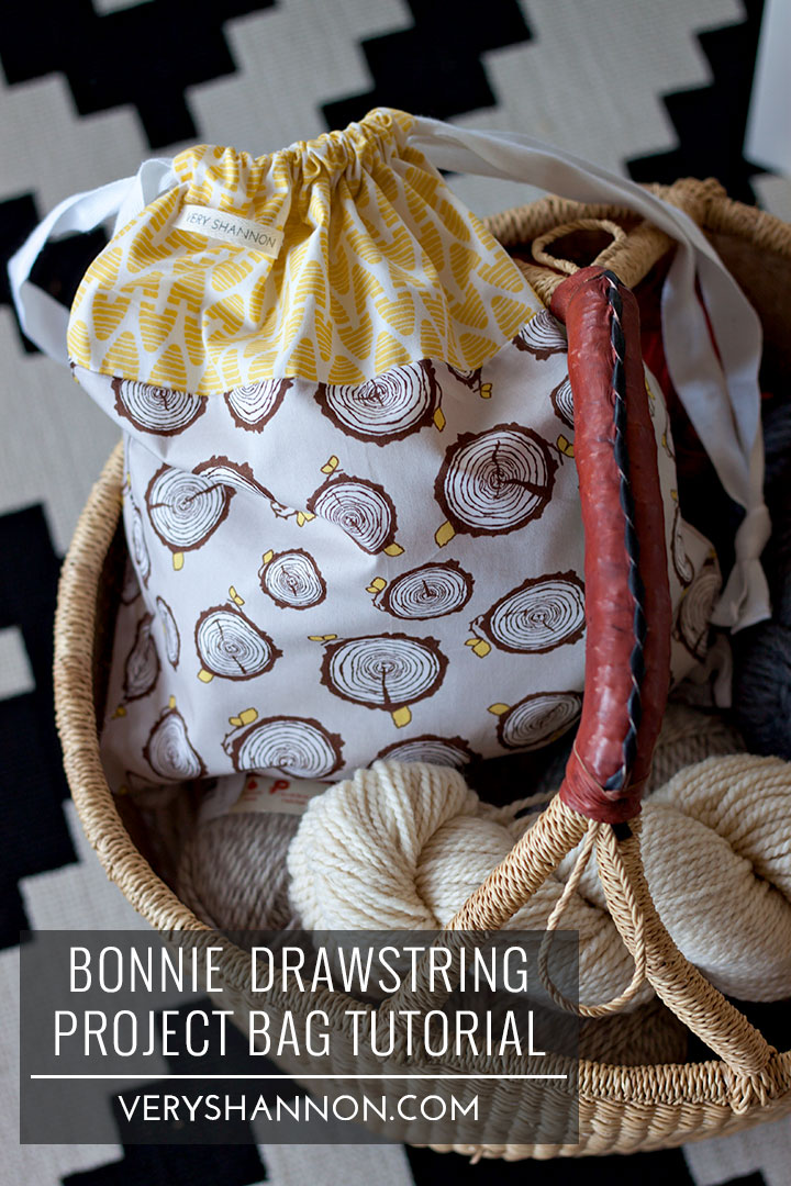 SEWING || FREE BONNIE DRAWSTRING PROJECT BAG TUTORIAL! — VERY SHANNON