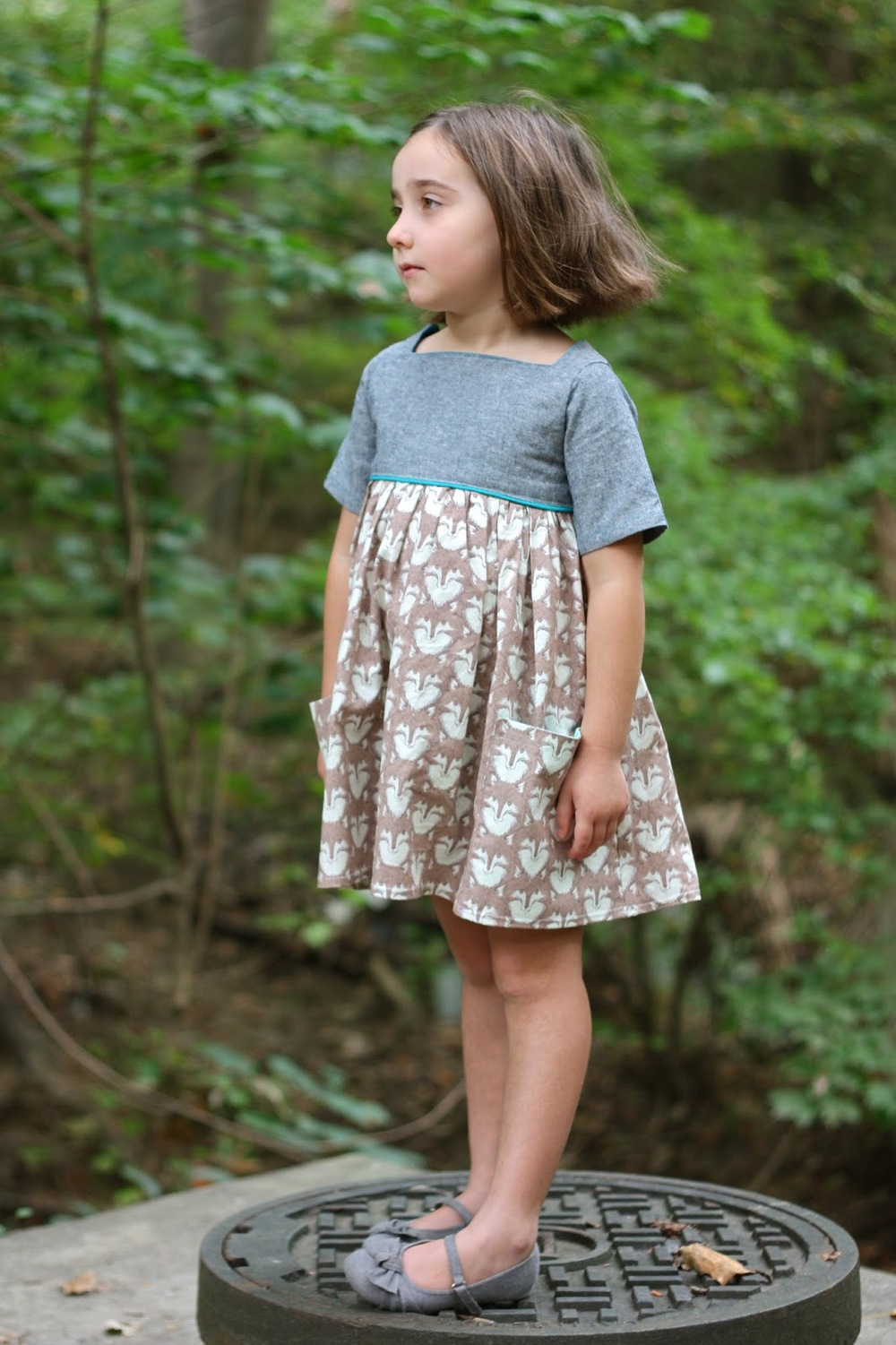 Sally Dress Pattern by Very Shannon sewn by Buzzmills
