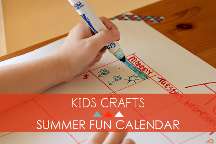 summer fun calendar craft on luvinthemommyhood.com