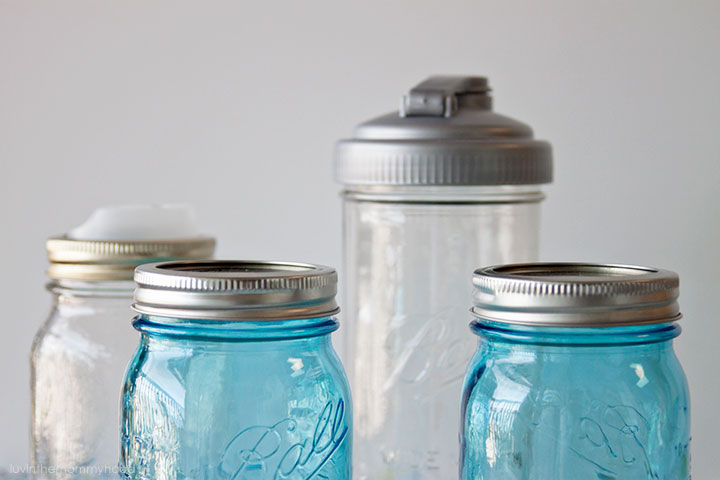mason jars blue cuppow recap