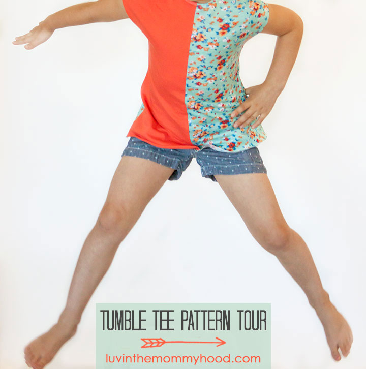 tumble tee pattern tour on luvinthemommyhood.com