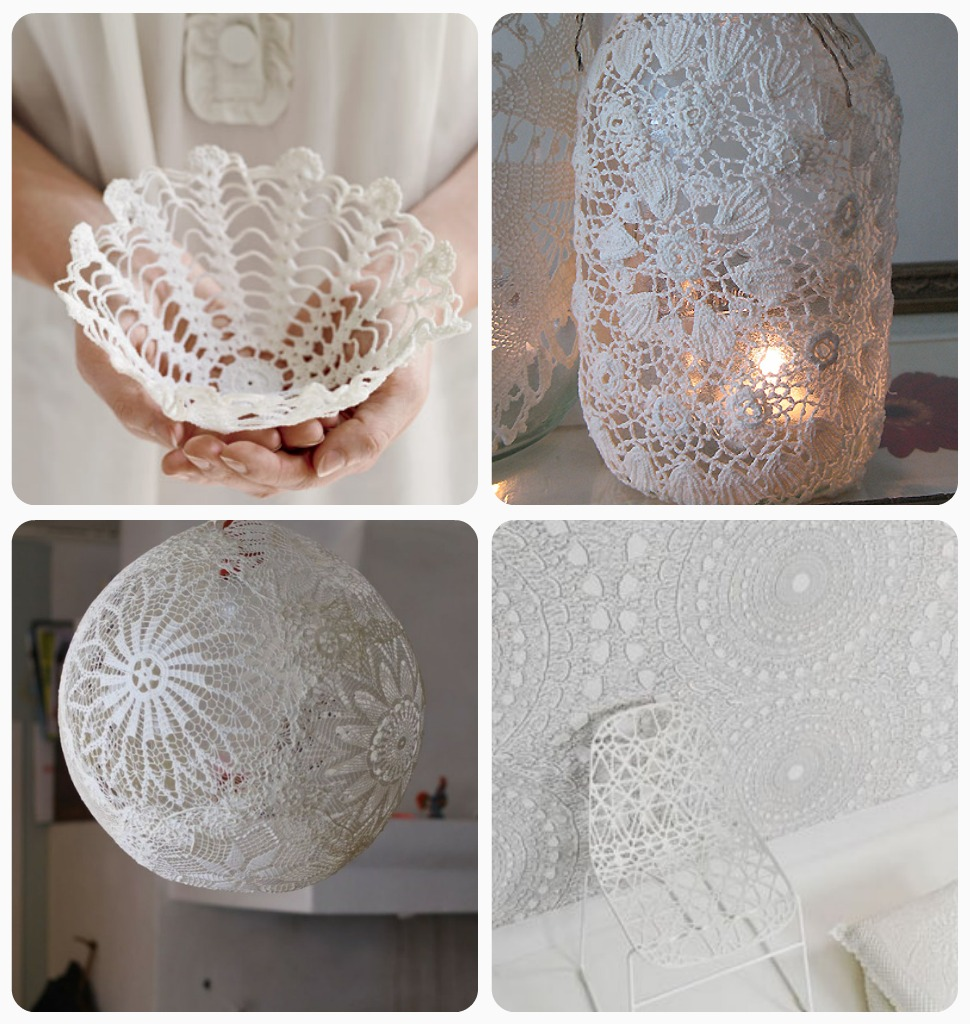 Doily crafts diy roundup very shannon 3 lace lamp 4 doily wallpaper arubaitofo Image collections